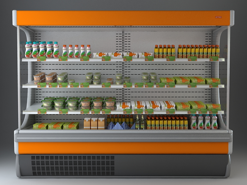 refrigerated display case 3d model 3ds max fbx texture obj 114748