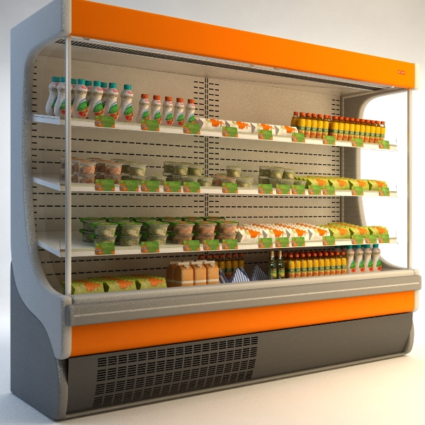 refrigerated display case 3d model 3ds max fbx texture obj 114750