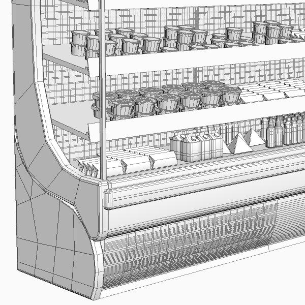 refrigerated display case 3d model 3ds max fbx texture obj 114754