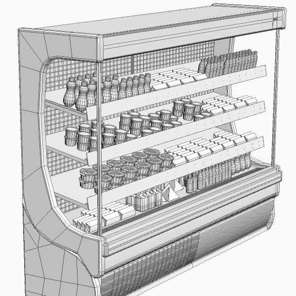 refrigerated display case 3d model 3ds max fbx texture obj 114756