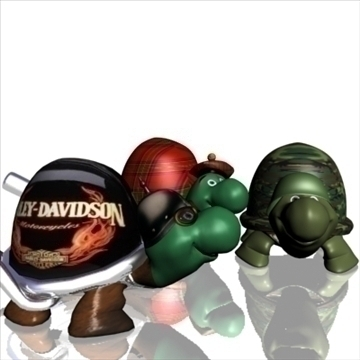 3 toon turtles модель 3d 3ds max lwo obj 106663