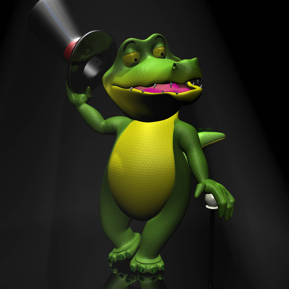 cartoon crocodile rigged 3d model 3ds max fbx lwo obj 151040