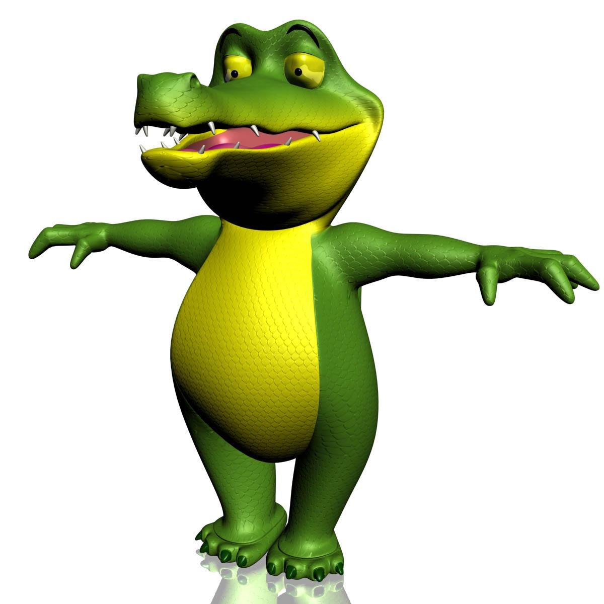 Cartoon Crocodile RIGGED 3D Model – Buy Cartoon Crocodile ... - photo#26