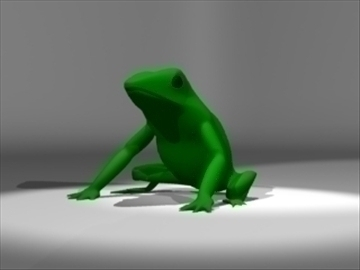 frog 3d model 3ds dxf lwo 80687