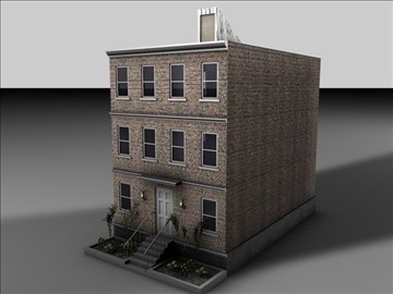apartment building 3d model 3ds c4d texture 85079
