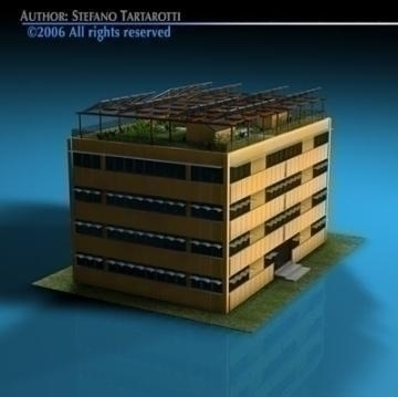 ecological building 3d model 3ds dxf c4d obj 78498