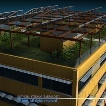 ecological building 3d model 3ds dxf c4d obj 78499