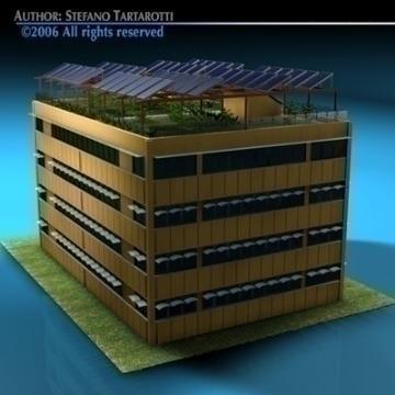 ecological building 3d model 3ds dxf c4d obj 78500