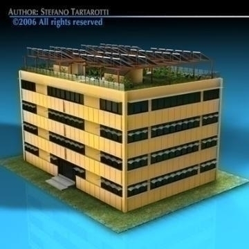 ecological building 3d model 3ds dxf c4d obj 78502