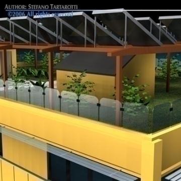 ecological building 3d model 3ds dxf c4d obj 78504