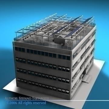 ecological building 3d model 3ds dxf c4d obj 78506
