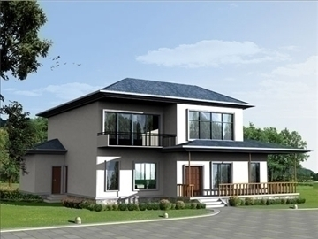 Villa 2 3d model buy villa 2 3d model flatpyramid for Villas 3d model