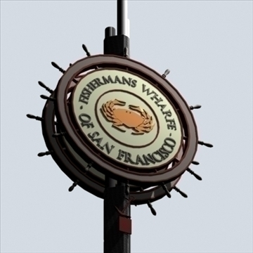 fishermans wharfe signpost 3d model max 95243