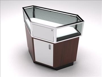 vitrīna kioska sala 3d modelis 3ds max dwg 100744