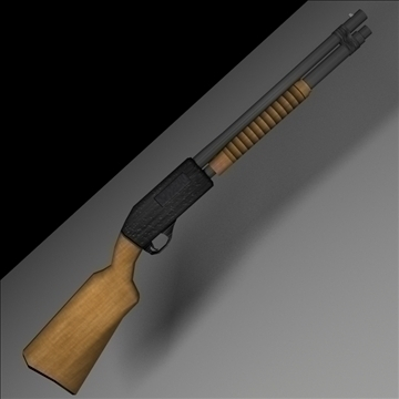 12 gauge remington shotgun 3d modelo 3ds max lwo hrc xsi obj 103405