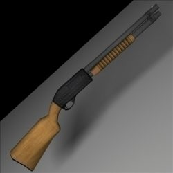 12 Gauge Remington Shotgun ( 43.5KB jpg by SlomoStudios )