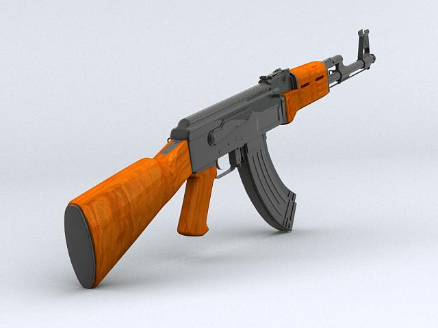 ak-47 hücum tüfəng 3d model 3ds max obj 122567