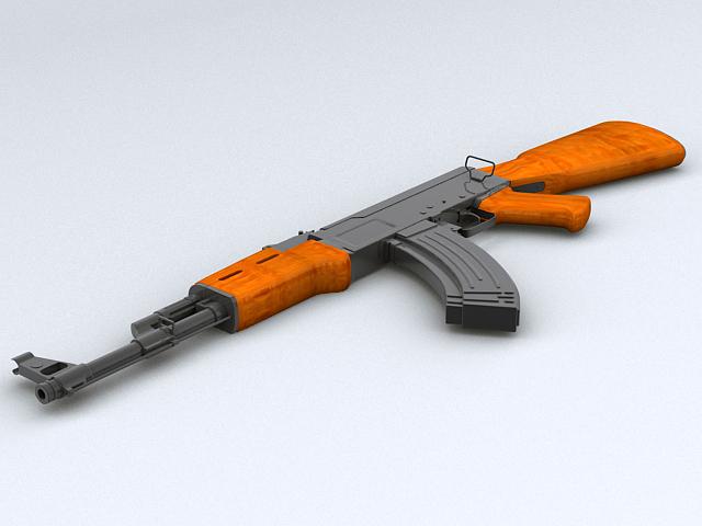 ak-47 reiffl ymosodiad Model 3d 3ds max obj 122568
