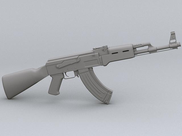 ak-47 hücum tüfəng 3d model 3ds max obj 122569