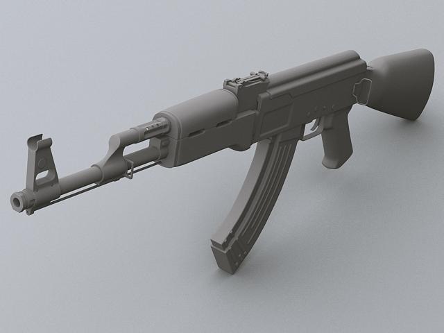 ak-47 hücum tüfəng 3d model 3ds max obj 122570