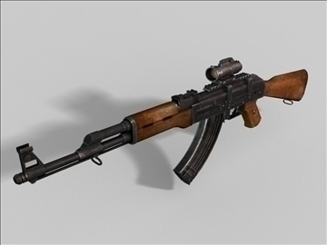 akm kalashnikov next gen weapon 3d model 3ds max obj 88183
