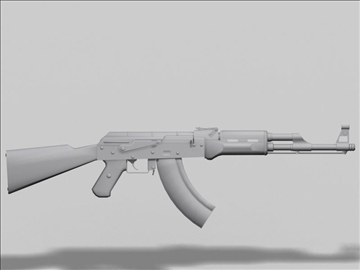 akm kalashnikov next gen weapon 3d model 3ds max obj 88184