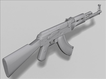 akm kalashnikov next gen weapon 3d model 3ds max obj 88185