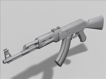 akm kalashnikov next gen weapon 3d model 3ds max obj 88187