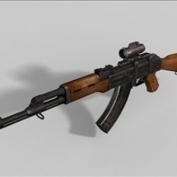 AKM Kalashnikov next gen weapon 3d model ( 42.28KB jpg by weapons3d )