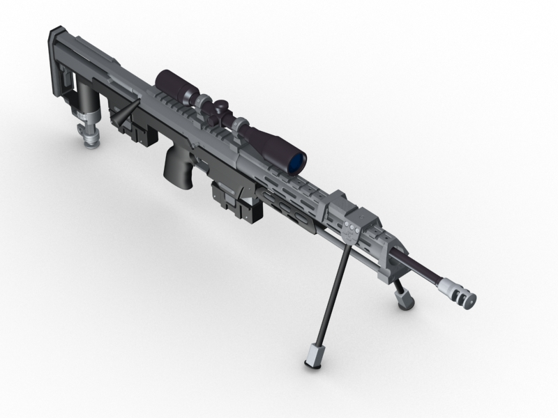 amp dsr 1 sniper rifle 3d model 3ds max fbx obj 147038