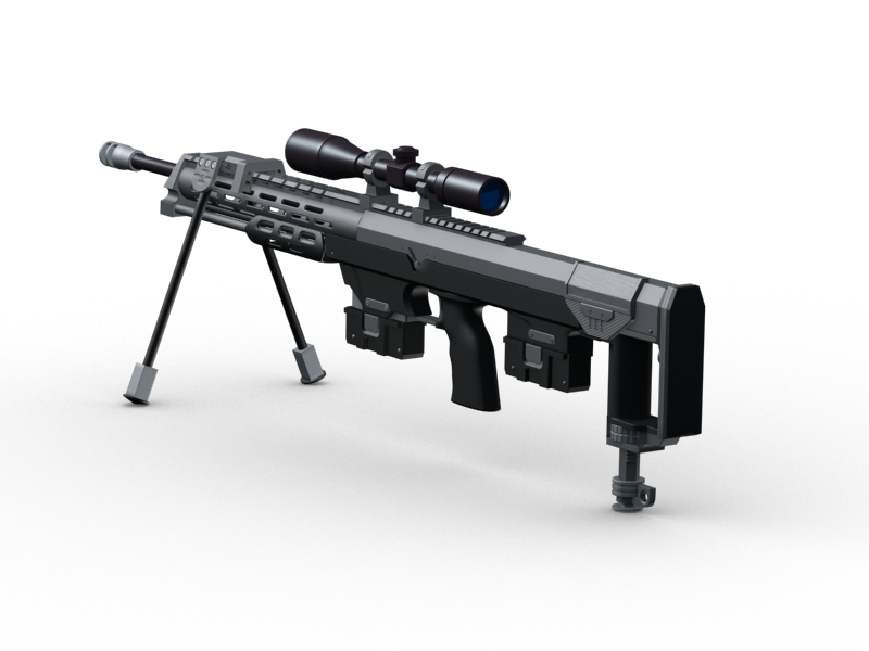 amp dsr 1 sniper rifle 3d model 3ds max fbx obj 147039