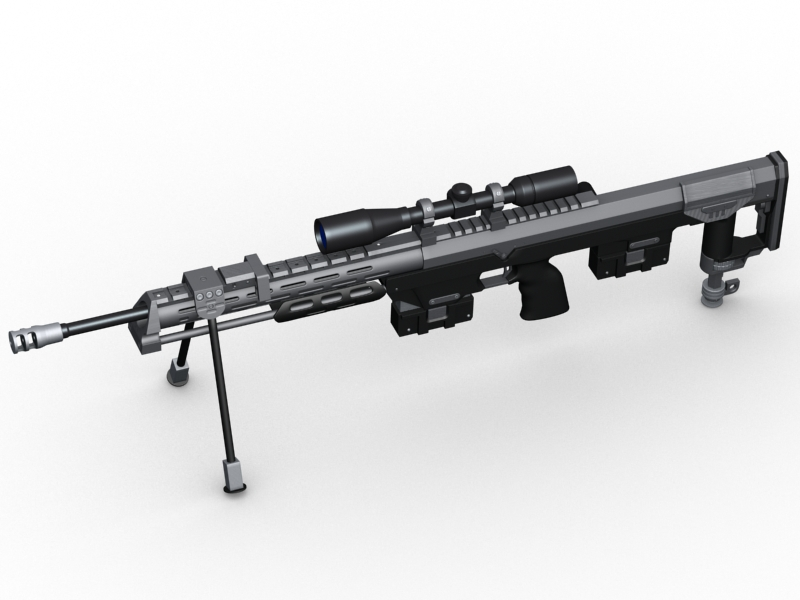 amp dsr 1 sniper rifle 3d model 3ds max fbx obj 147041