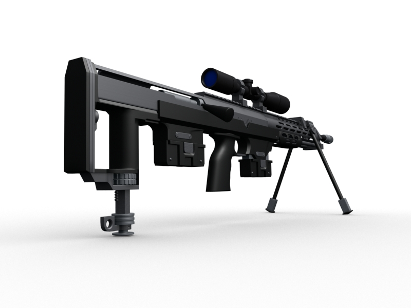 amp dsr 1 sniper rifle 3d model 3ds max fbx obj 147043