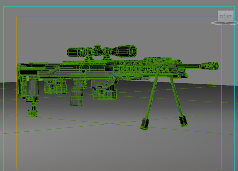 amp dsr 1 sniper rifle 3d model 3ds max fbx obj 147044