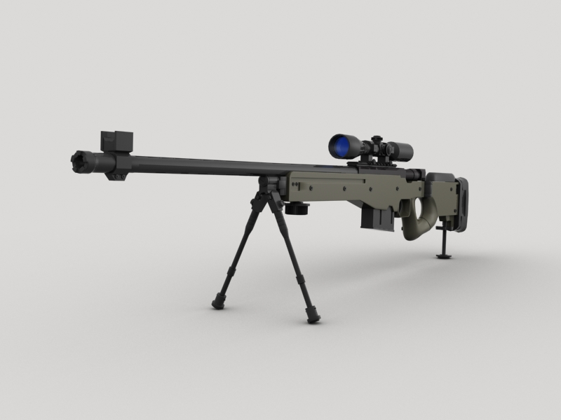 awp sniper rifle 3d model 3ds max fbx obj 147032