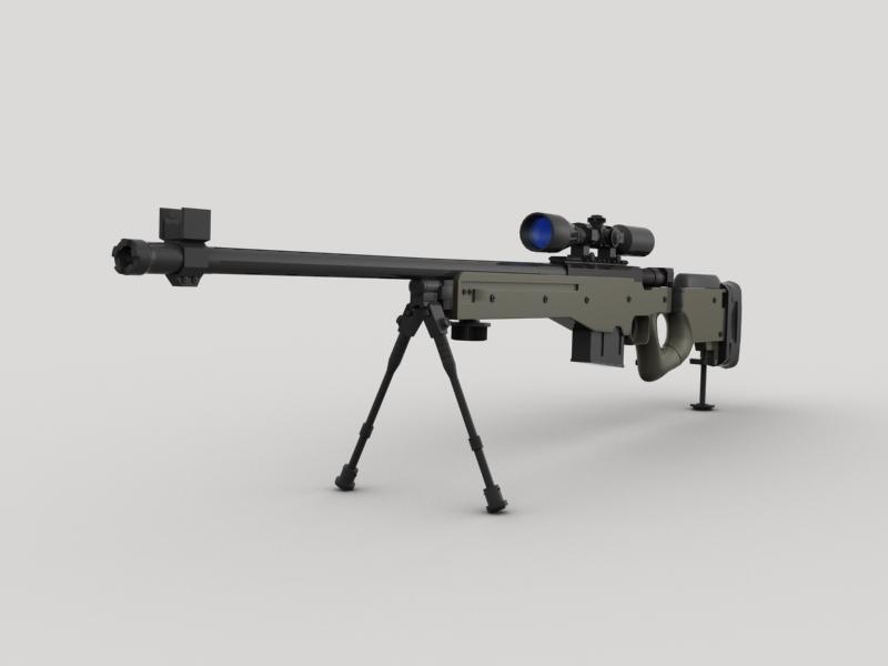 awp snayper tüfəngi 3d model 3ds max fbx obj 147032