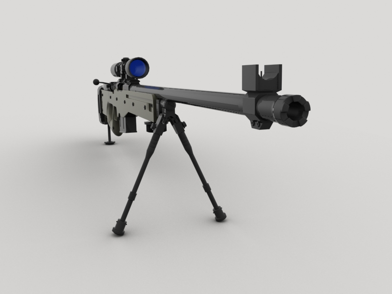 awp sniper rifle 3d model 3ds max fbx obj 147033