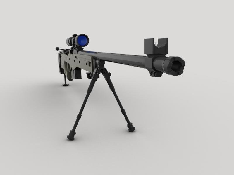 awp snayper tüfəngi 3d model 3ds max fbx obj 147033