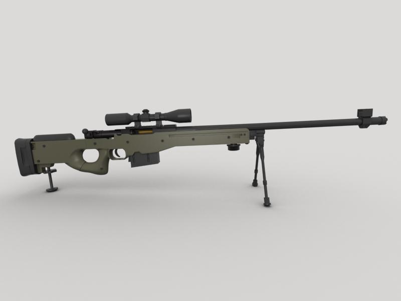 awp snayper tüfəngi 3d model 3ds max fbx obj 147034