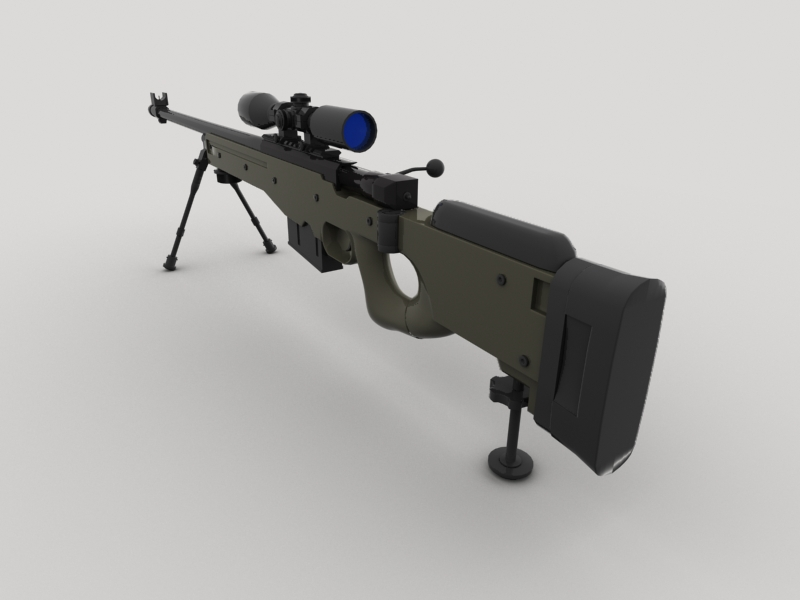 awp sniper rifle 3d model 3ds max fbx obj 147035