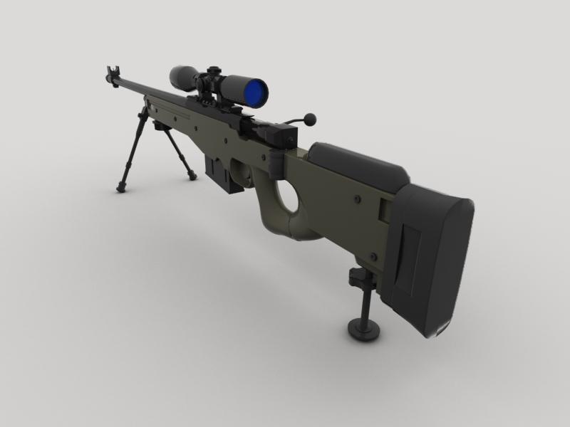 awp snaipera šautene 3d modelis 3ds max fbx obj 147035