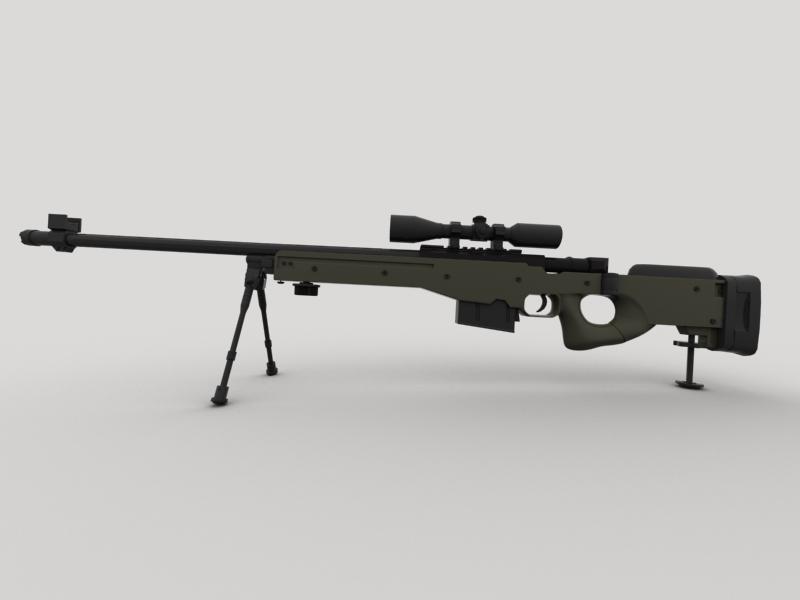 awp snayper tüfəngi 3d model 3ds max fbx obj 147036