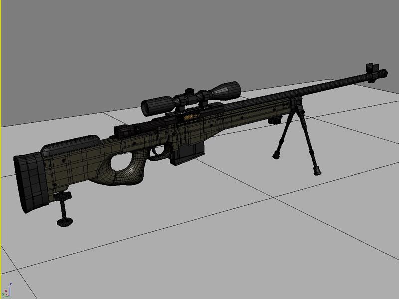 awp snaipera šautene 3d modelis 3ds max fbx obj 147037