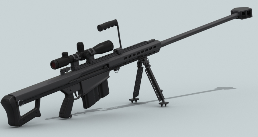 barrett m82 model 3d 3ds max fbx obj 122302