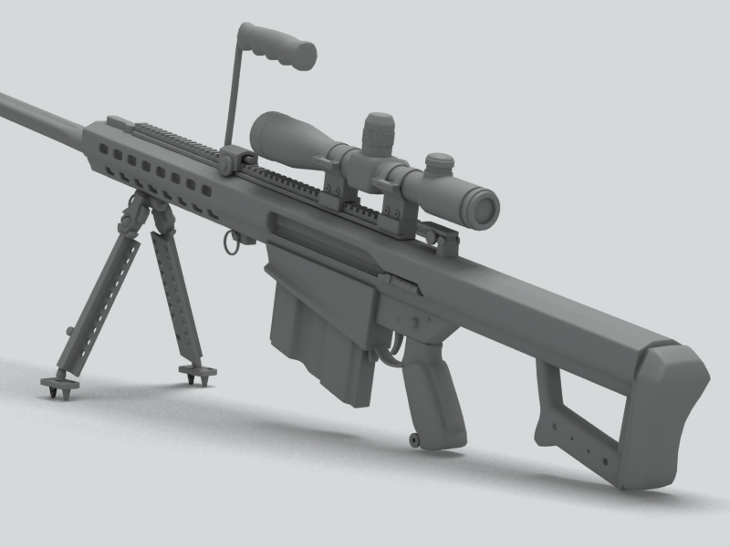 barrett m82 sniper rifle 3d model 3ds max fbx obj 146394