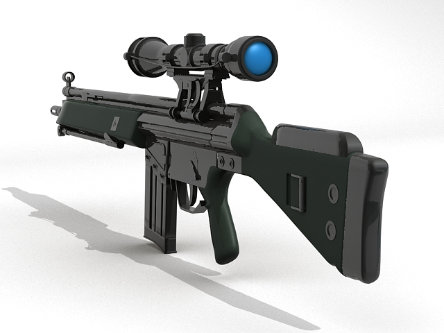 g3 assault rifle 3d model 3ds max fbx obj 123541