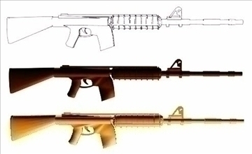 insas rifle blueprints indian secret weapon 3d model max 111809