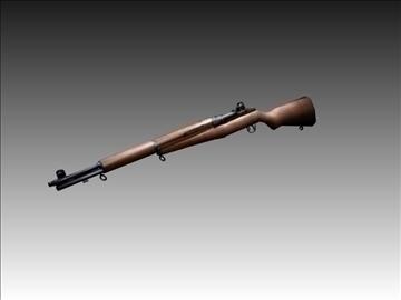 m1 garand rifle 3d model 3ds blend x lwo hrc xsi obj 106927