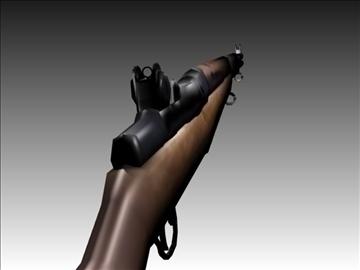 m1 garand rifle 3d model 3ds blend x lwo hrc xsi obj 106929