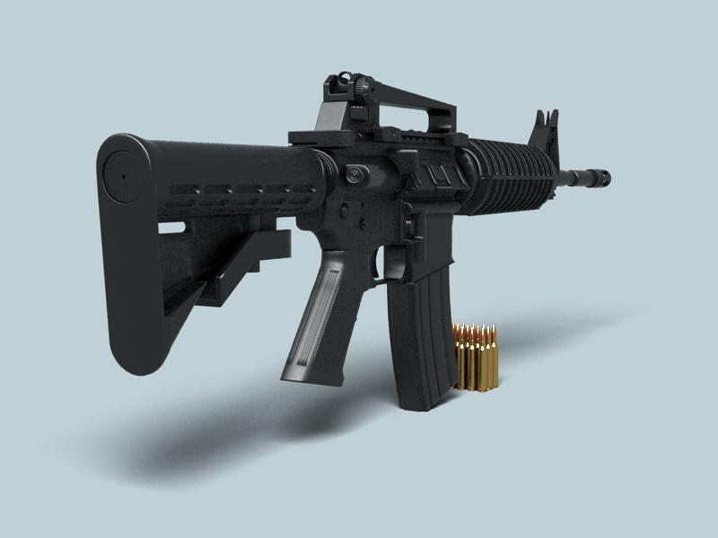 M4a1 múnla 3d 3ds max fbx obj 146379